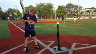 6 year old Quinn teaching T-ball hitting
