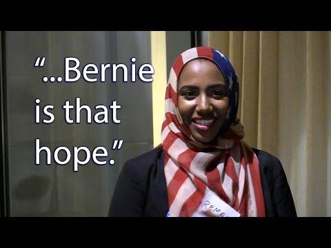 Remaz Abdelgader Speaks to Bernie Supporters
