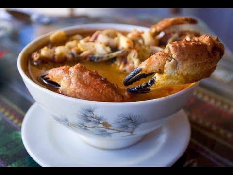 Сливочный суп с крабом