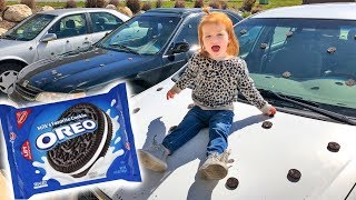OREO PRANK with toothpaste and cars!