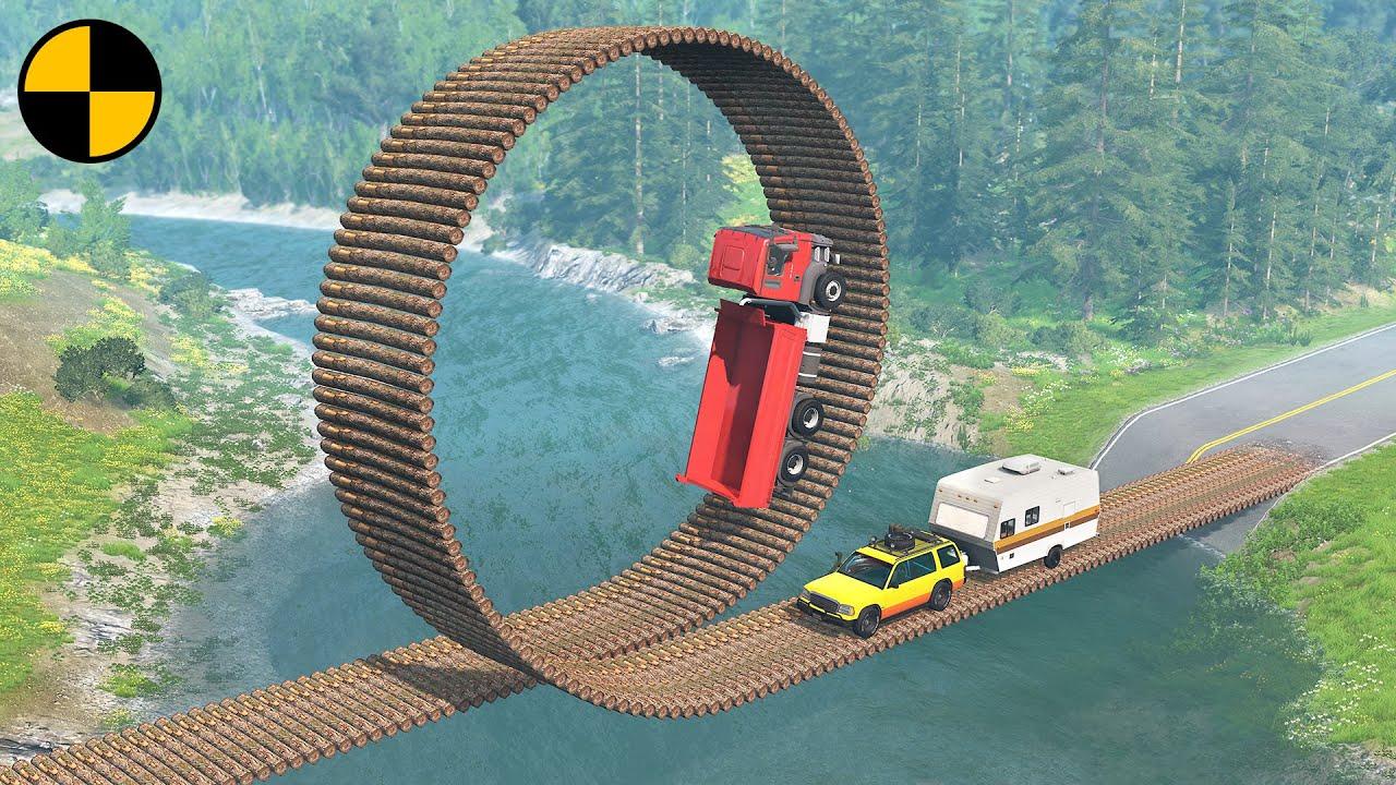 Cars vs Impossible Loop Bridge 😱 BeamNG.Drive