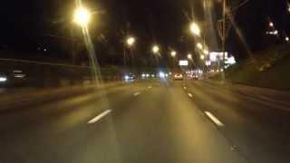 Октябрь 2013. Поездка ночью: Южная Рокада