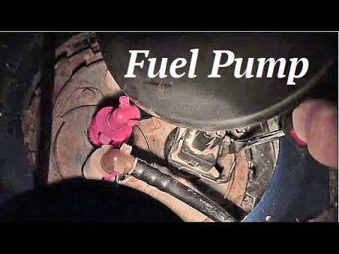 How To Remove Fuel Pump On Mercury Mystique Youtube