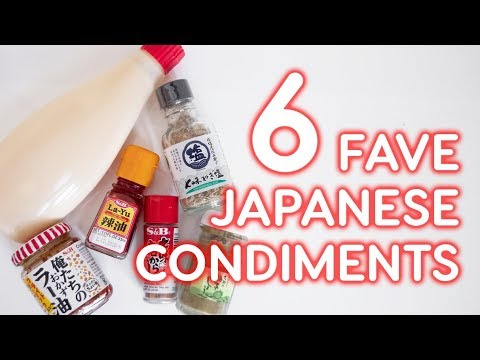 6 FAVORITE JAPANESE CONDIMENTS