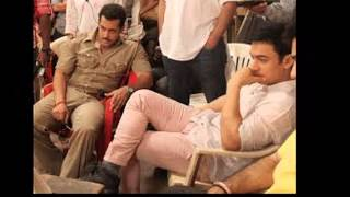 salman khan and aamir khan comedy nights with kapial promote his new movie kick