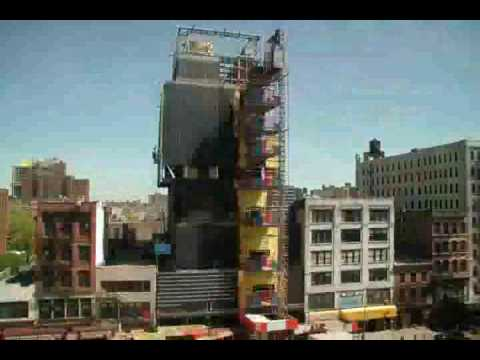 SANAA - New Museum Time-Lapsed Construction