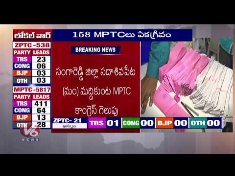 MPTC Election Results   Unlike Results, Congress Lead In Rangareddy   V6 News