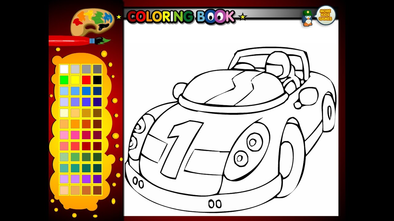 Race Car Coloring Pages For Kids - Race Car Coloring Pages - YouTube