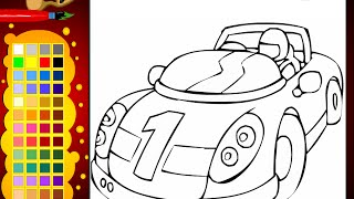 Race Car Coloring Pages For Kids - Race Car Coloring Pages
