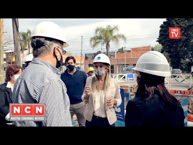 CINCO TV - Malena Galmarini supervisó una obra de cloaca que beneficiará a 10.000 vecinos