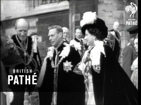 Mountbatten Honoured At Garter Service (1948)