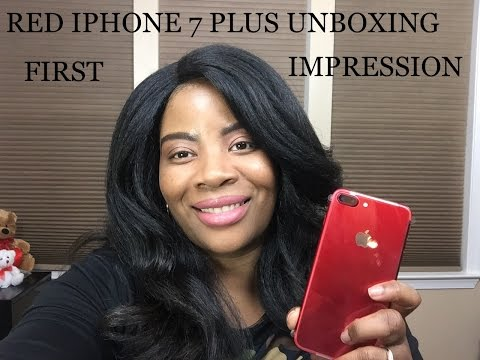 RED IPHONE 7 PLUS UNBOXING FIRST IMPRESSION