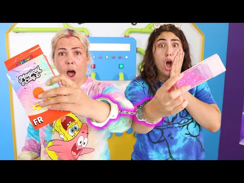FIX THIS SLIME WHILE HANDCUFFED CHALLENGE ! slimeatory #651