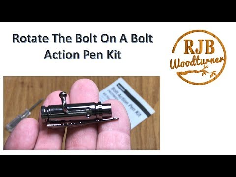 Rotate The Bolt On The Bolt Action Pen Kit