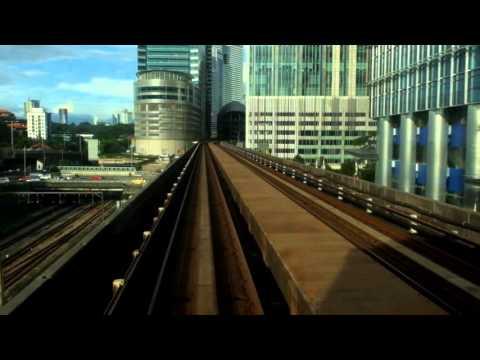 Rapid KL Kelana Jaya Line 2 car LRT:  KJ16 Bank Rakyat-Bangsar to KJ15 KL Sentral