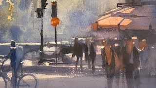 Advancing with Watercolor: Shape and a Center of Interest - Norte Dame