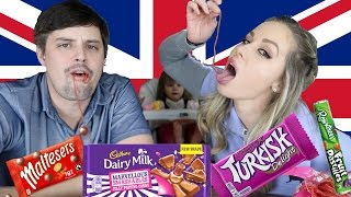 AMERICANS TRY BRITISH CANDY (sweets)