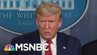 Pres. Trump on Naval hospital ship: 'I'll kiss it goodbye' | MTP Daily | MSNBC