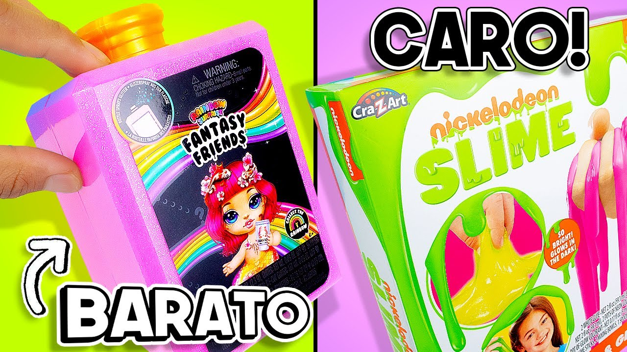Kit SLIME Caro vs Kit Slime Barato💸 SIN PEGAMENTO! CON 1 INGREDIENTE! no Borax!