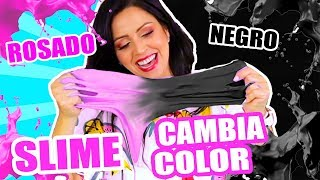 WEIRDEST SLIME OF THE WORLD! FROM PINK TO BLACK! MAGIC SLIME THAT CHANGES COLOR