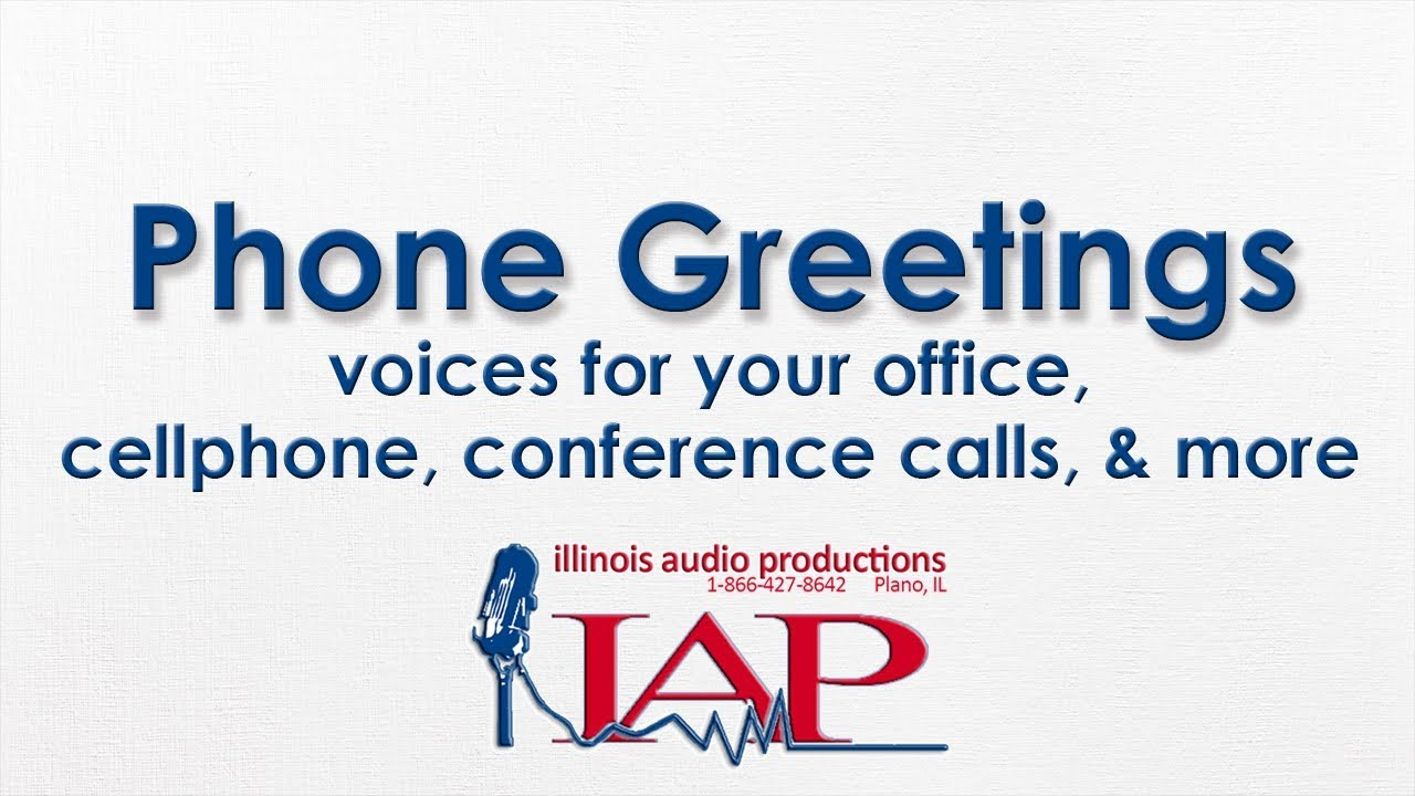 Conference Call Voiceover Greetings By Illinois Audio Productions