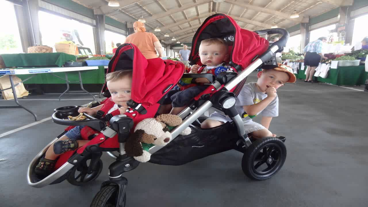 Baby Jogger City Select Stroller With Second Seat Ruby