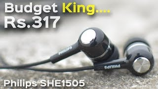 Budget Earphone King Priced Rs.317/-| Philips SHE1505 Wired Headset with Mic | Data Dock