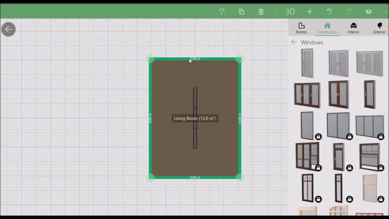 Casa em 3d muito facil de criar planner 5d youtube for Planner casa 3d