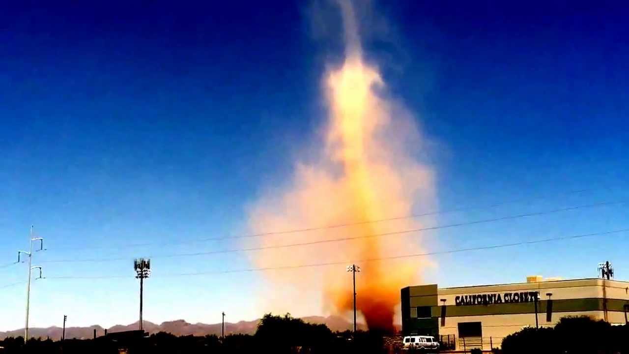 Giant Dust Devil, looks like a Tornado in Tucson - YouTubeDust Devil Tornadoes