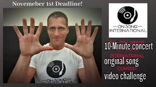 Les Dix Minutes Internationale des chansons originales vidéo du Concert défi de Gagner 200 $de promotion de dollars