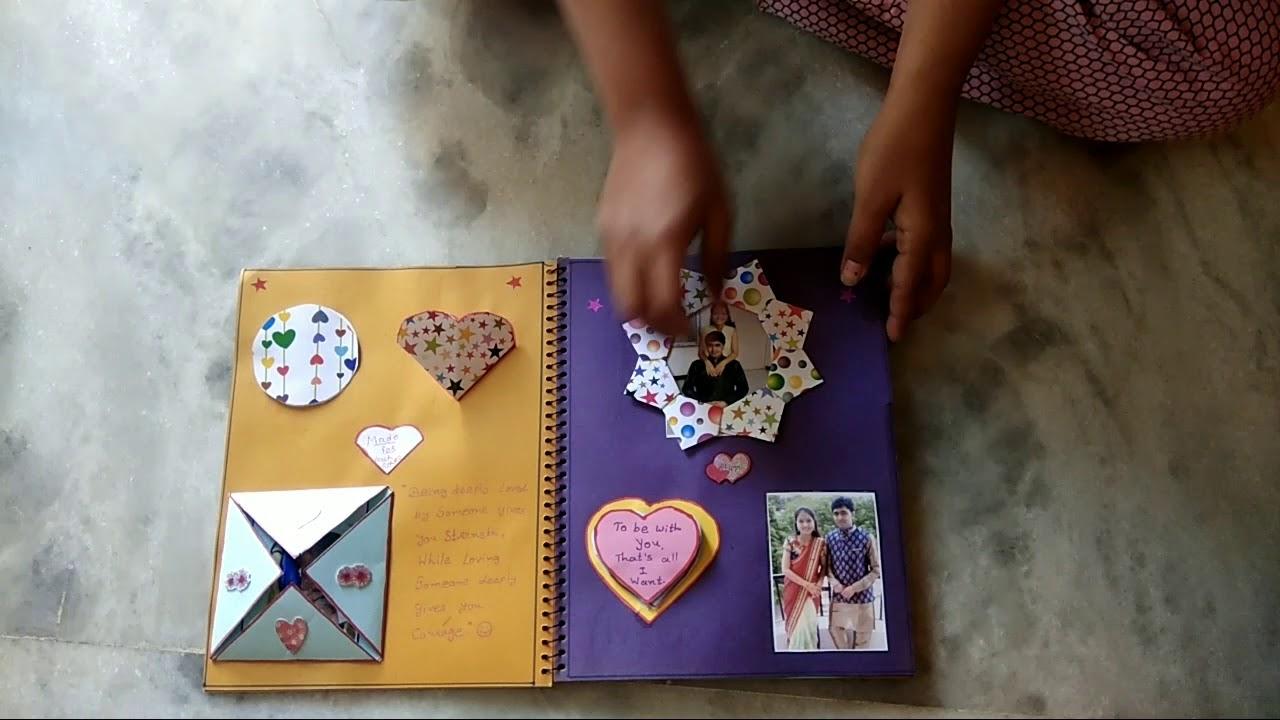 Diy Handmade Scrapbook Marriage Anniversary gift for Didi-Jiju