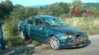 Accident cu masina in rapa la Crucea Dognecei Resita