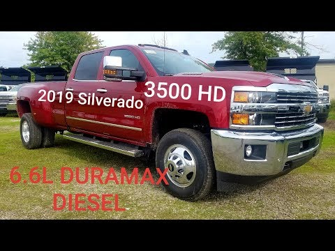 2019 Chevy Silverado 3500 HD Crew Cab Dually LTZ 4x4 - 6.6L DURAMAX DIESEL - Full Walk Around Review