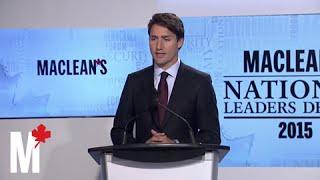 Trudeau on responsible military deployments: Maclean's debate