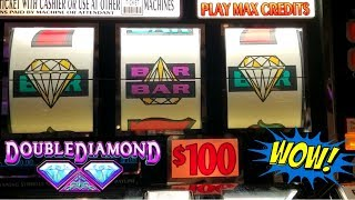 $100 a Spin Double Diamond Slot & $75 Max Bet High Limit Top Dollar Slot Machine - Live Slot Play