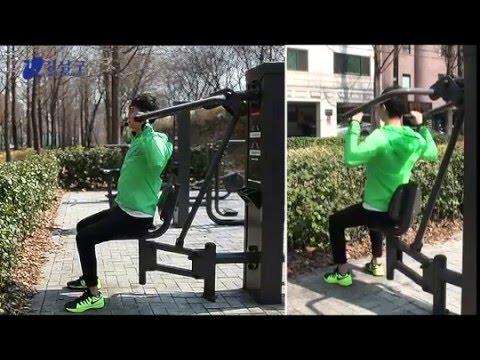 양재천 공원 운동기구 사용법 - 하이풀리