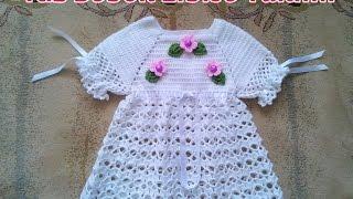Örgü Bebek Elbisesi Bel Kısmı Yapılışı , Canım Anne