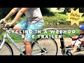 A Toddler's View Of Cycling In A Weehoo Bike Trailer [GoPro Toddler POV]