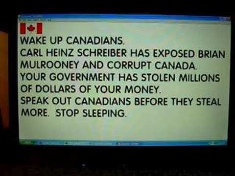 Schreiber Mulrooney Stole Money from Canada