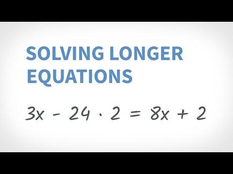 Algebra Topics: Solving Equations