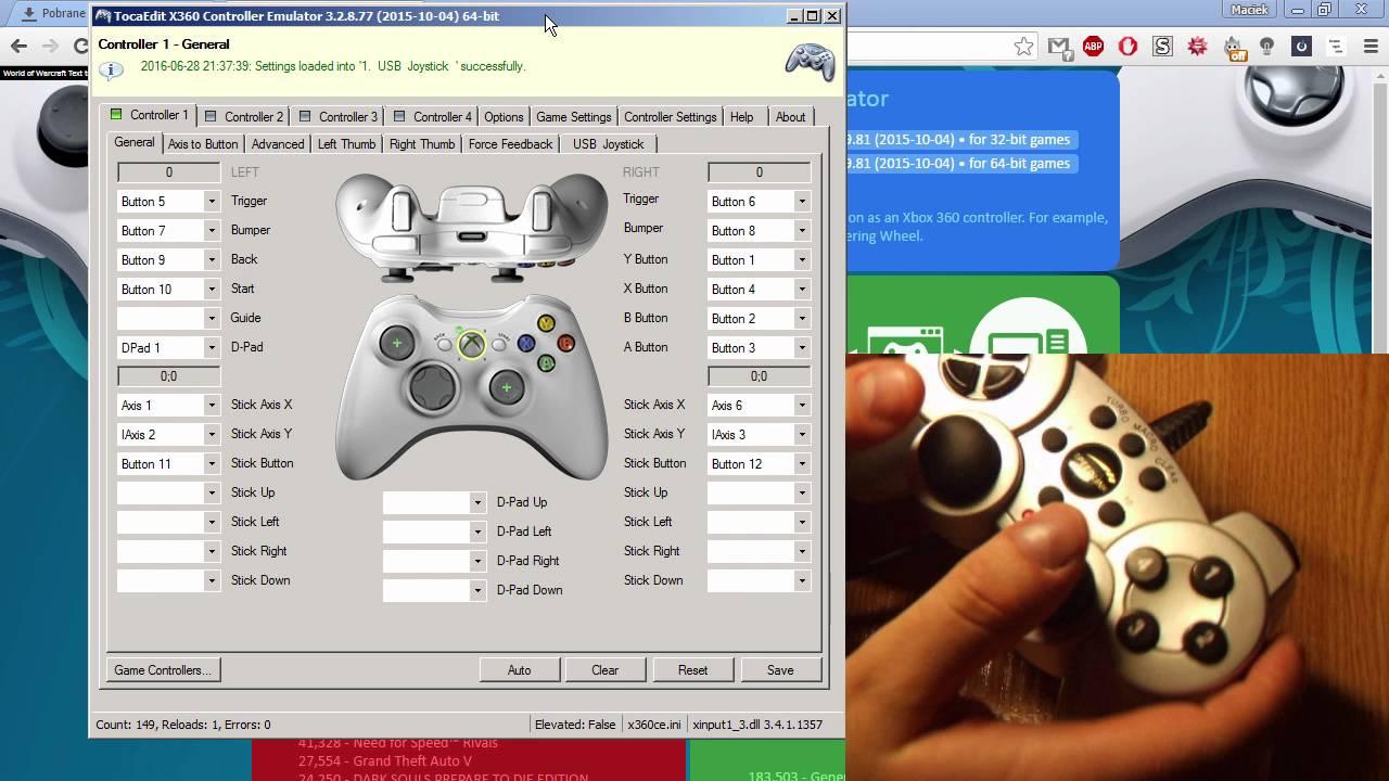 X360CE - Jak Emulować Dowolny Pad jako X360 Controller [QuackVR com]