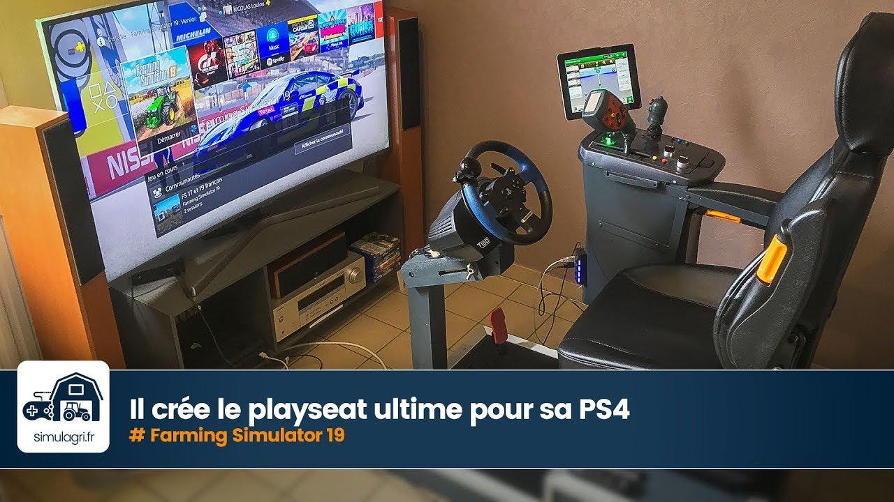 Il crée le playseat Farming Simulator 19 ultime pour sa PS4