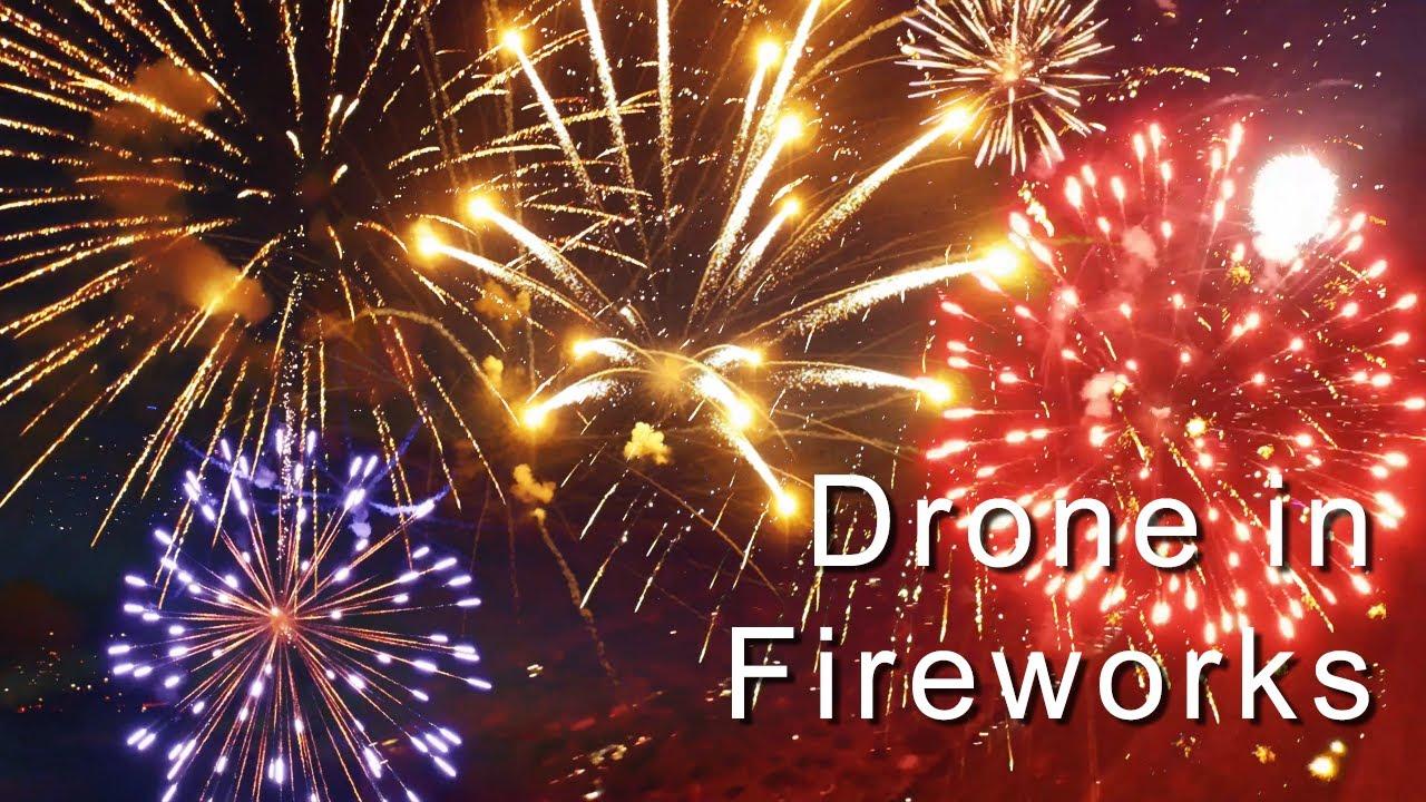 Drohnen Feuerwerk
