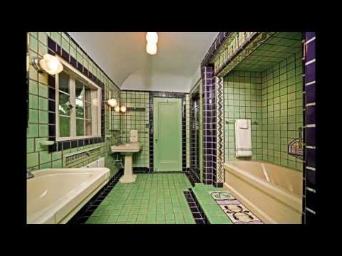 Art deco bathroom tile design