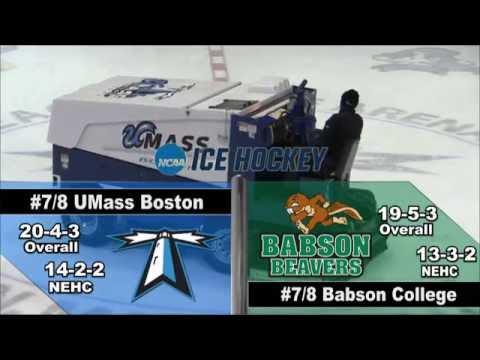 2016 NEHC Finals: UMass Boston Men's Hockey vs Babson College Webcast (3/5/16)