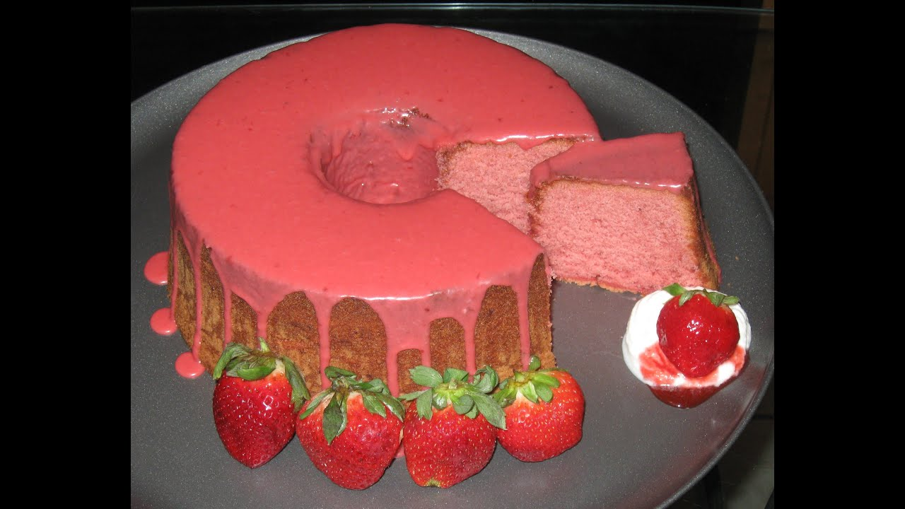 How To Make A Strawberry Pound Cake From Scratch Youtube
