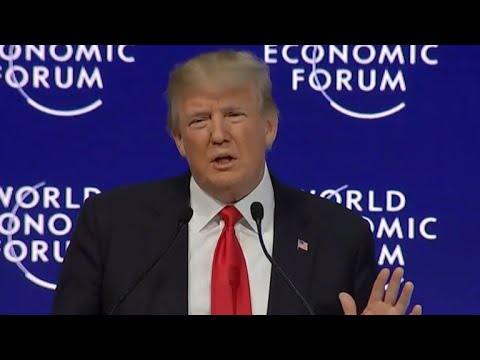 Trump targets China's trade policies in World Economic Forum speech