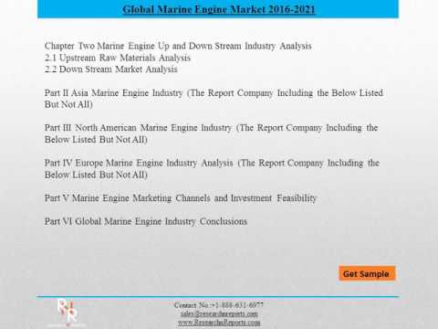 Global Marine Engine Market Forecasts 2021 - Research  N Rep