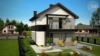 Компактный двухэтажный дом для узких участков z372 от Z500<