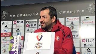 Diego Martínez. Previa Osasuna-Granada